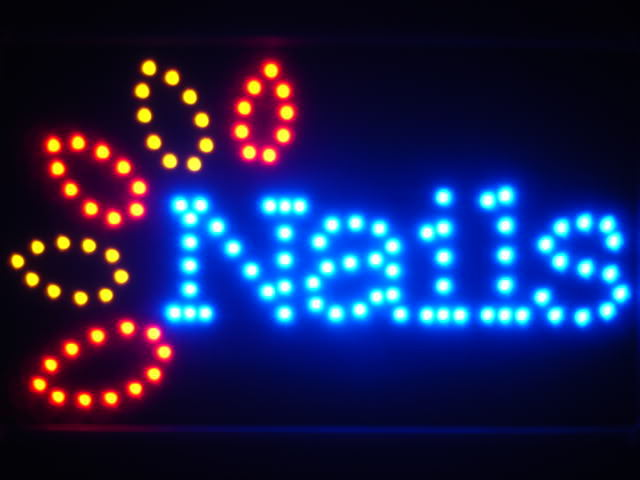 Nails Led Neon Sign Whiteboard