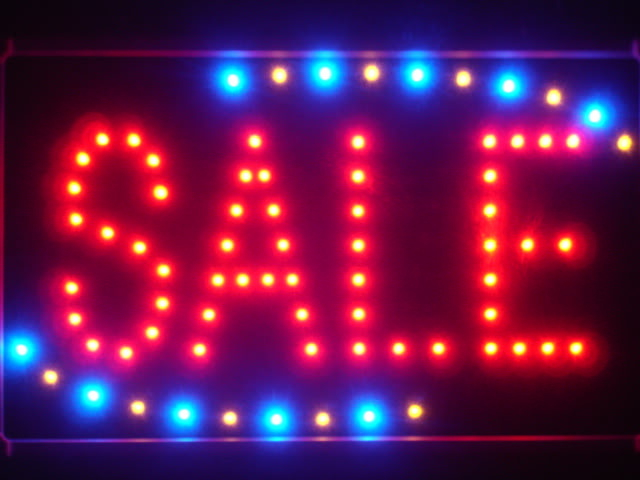 Sale Shop Discount Led Neon Sign WhiteBoard