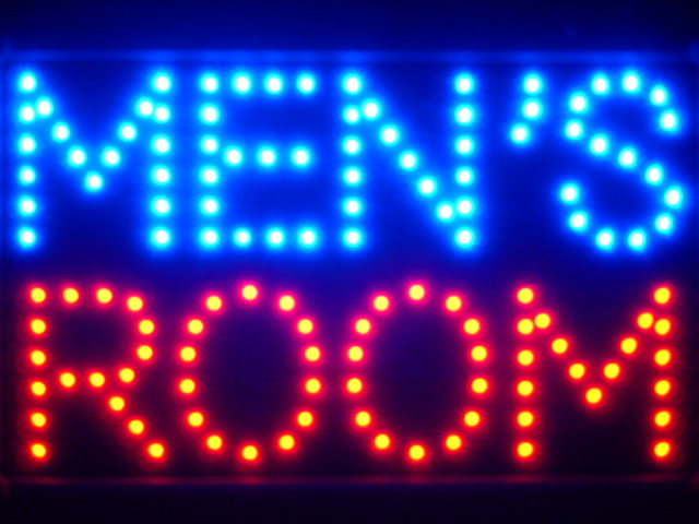 Men's Room Man Male Toilet Led Neon Sign