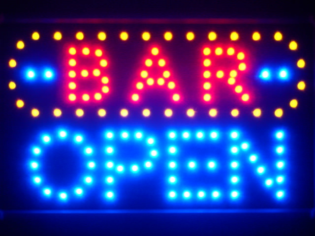 BAR OPEN Led Neon Sign WhiteBoard