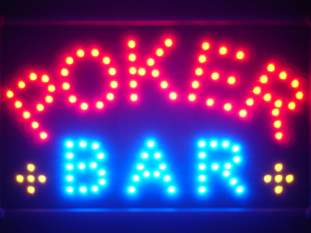 Poker Bar Room Casino Led Neon Sign WhiteBoard