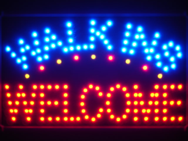Walk Ins Welcome Led Neon Sign WhiteBoard