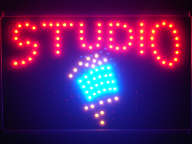 Studio Microphone DJ Led Neon Sign WhiteBoard