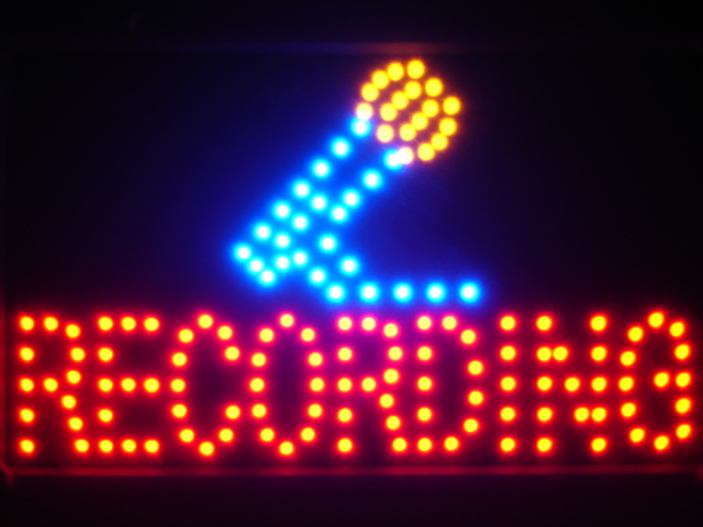 Recording On Air Microphone Led Neon Sign