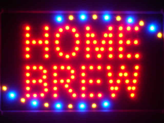 Home Brew Beer Bar Led Neon Sign WhiteBoard
