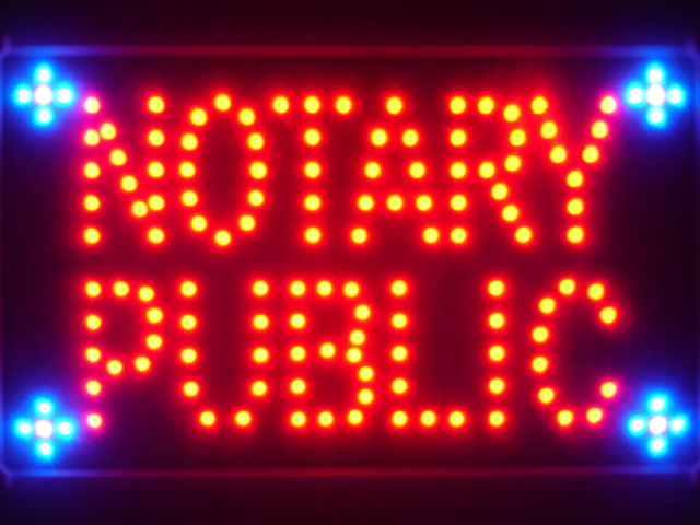 Notary Public Service Led Neon Sign WhiteBoard