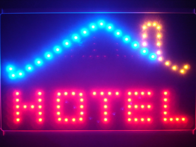 Hotel OPEN Display Led Neon Sign WhiteBoard