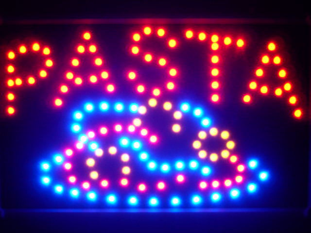 Pasta Pizza Cafe Shop Led Neon Sign WhiteBoard