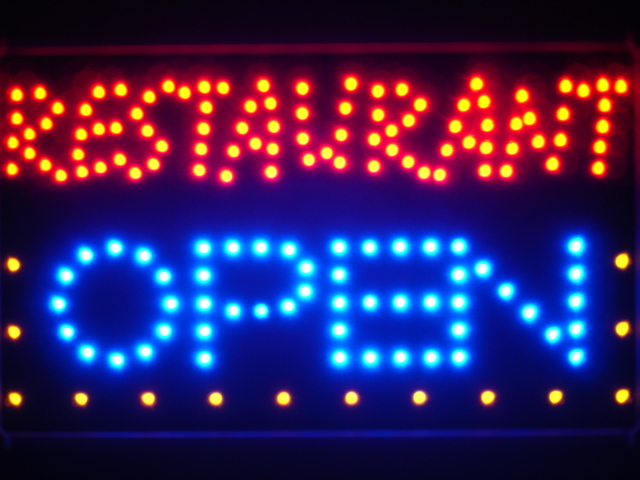Restaurant OPEN Bar Led Neon Sign WhiteBoard