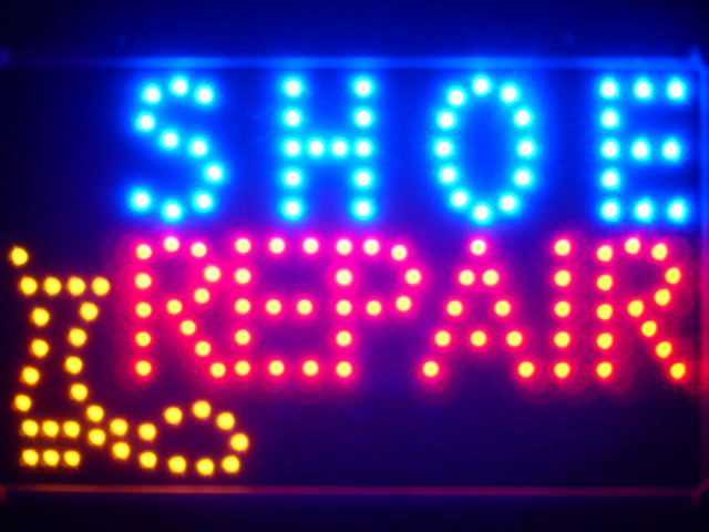 Shoe Repair Shop Led Neon Sign WhiteBoard