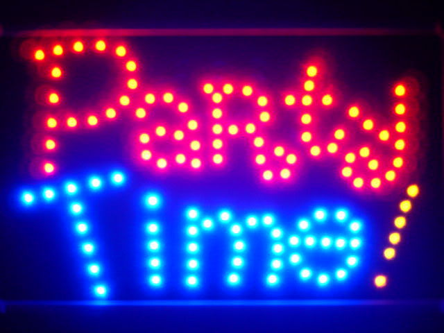 Party Time Bar Beer Led Neon Sign WhiteBoard