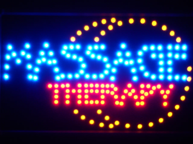Massage Therapy LED Neon Light Sign Whiteboard
