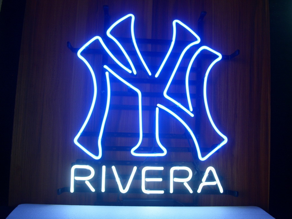 MLB NY Yankees Rivera Beer Classic Neon Light Sign 16 x 14