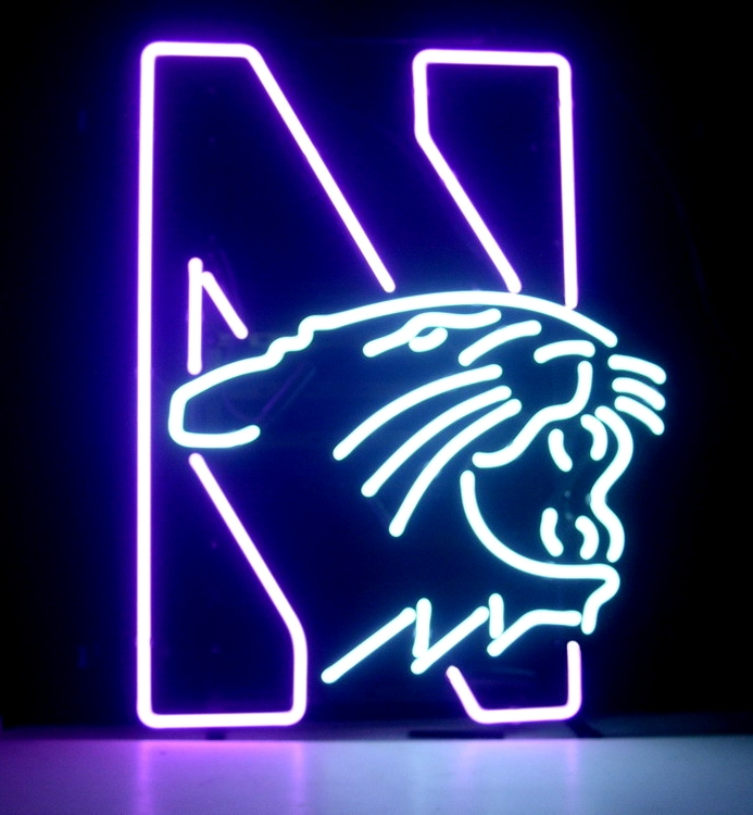 NCAA Northwestern University Wildcats Neon Bar Sign 16 x 13