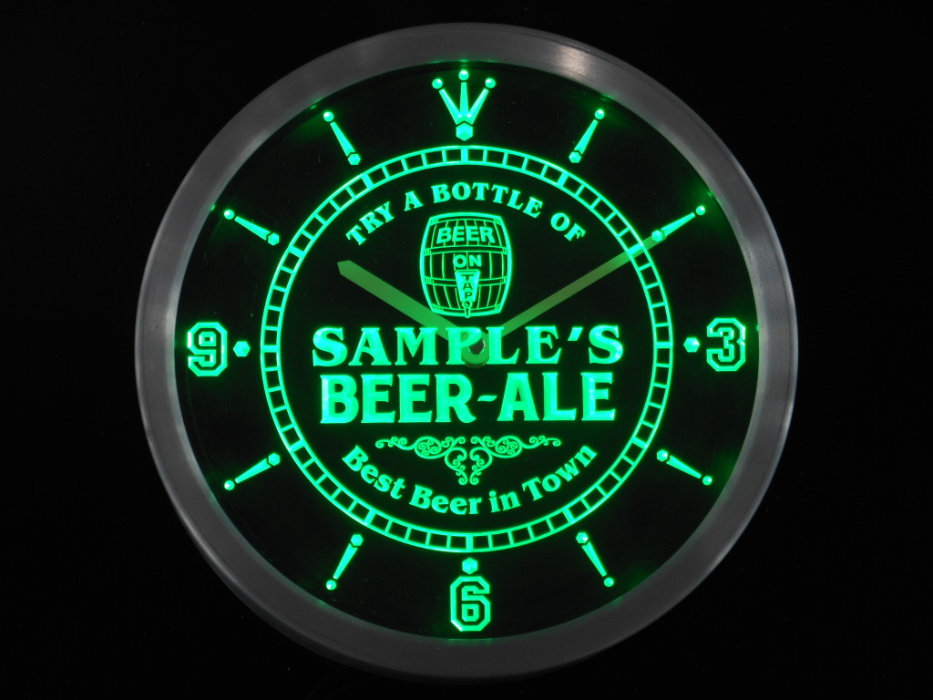 Beer Ale Personalized Your Name Bar Best in Town Neon Led Clock
