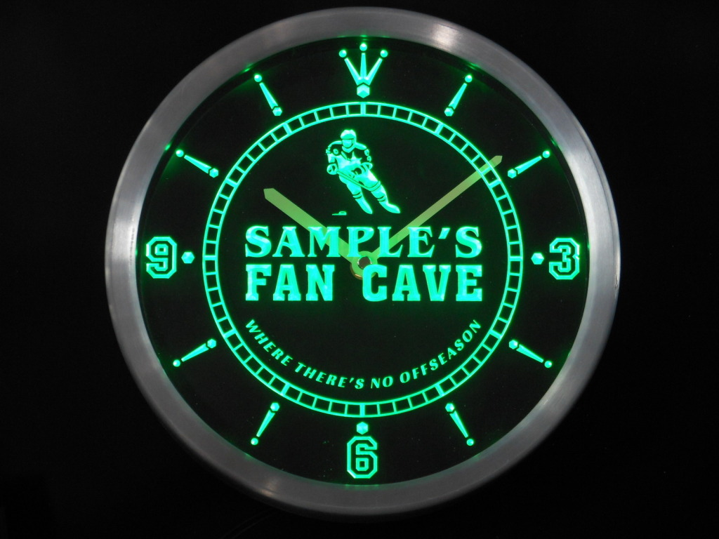 Name Personalized Custom Hockey Fan Cave Bar Beer LED Clock