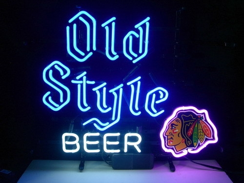 NHL Chicago BlackHawks Old Style Classic Neon Light Sign 16 x 14