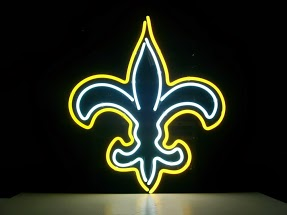 New Orleans Saints Classic Neon Light Sign 17 x 14
