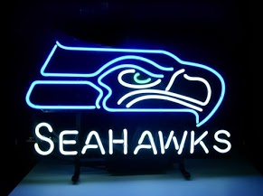 Sea Hawks Classic Neon Light Sign 17 x 14