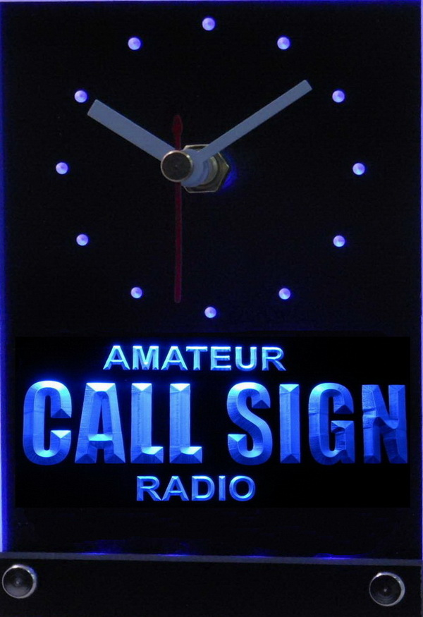 Custom Call Sign Amateur Radio Led Table Clock