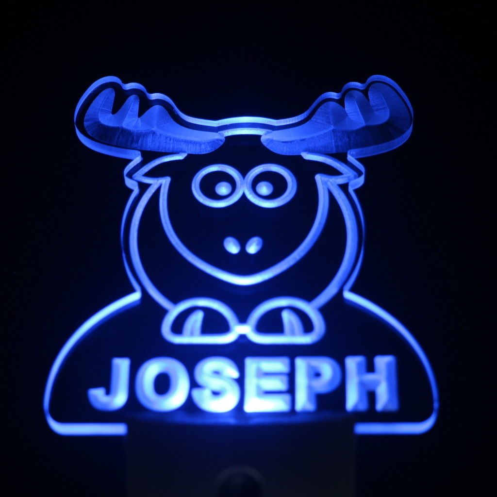 Elk Personalized Day Night Sensor LED Night Light Blue