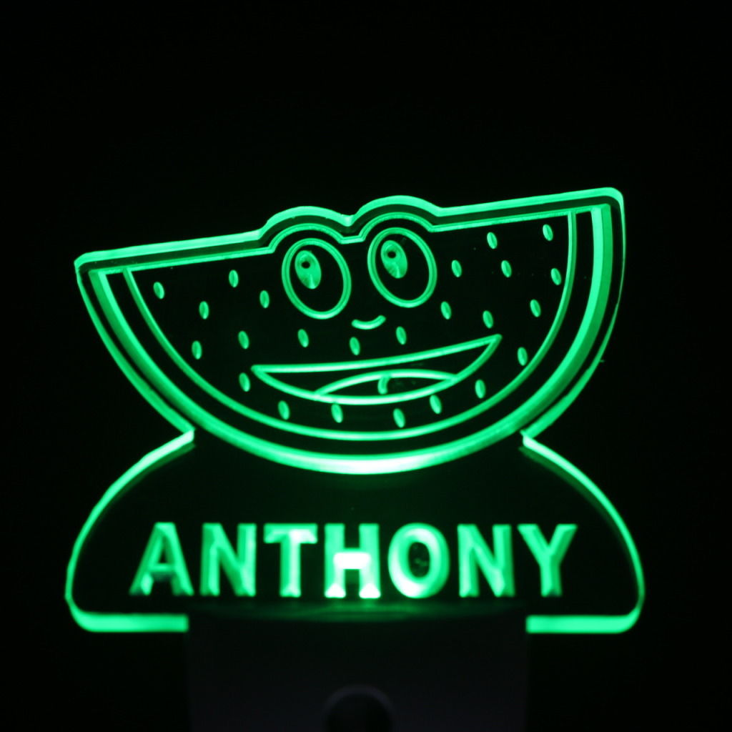 Watermelon Personalized Day Night Sensor LED Night Light Green